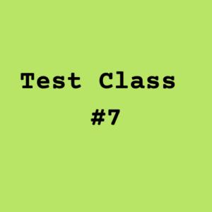 Test Class #7 Image