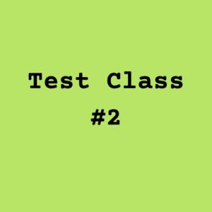 Test Class #2 Image